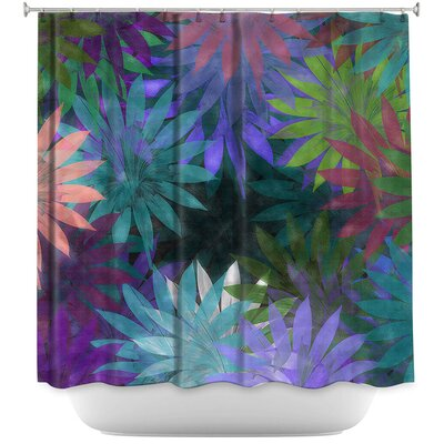 Forest Flowers 1 Shower Curtain Color: Pink/Black