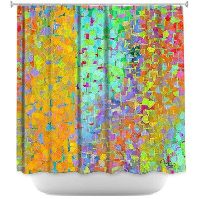Brightly Tiles Shapes Shower Curtain