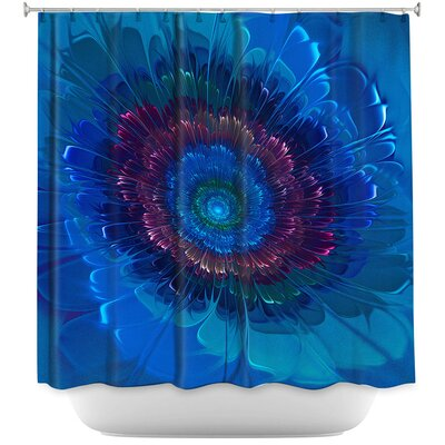 Silkens Shower Curtain Color: Blue/Purple