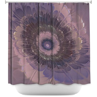 Silkens Shower Curtain Color: Purple/Gray