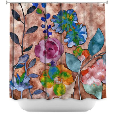 Fabric Feel Floral Shower Curtain