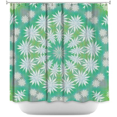 Flowers Spin Shower Curtain