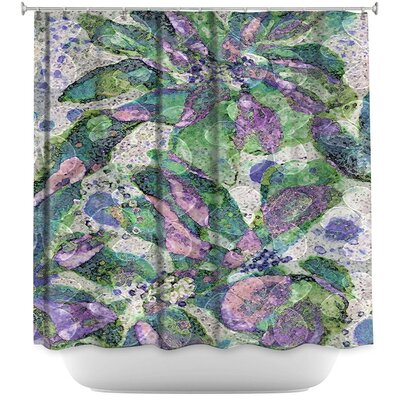 Speckled Flowers Shower Curtain