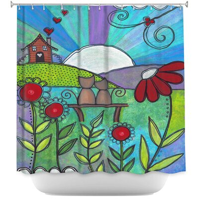 Love Blooms Shower Curtain