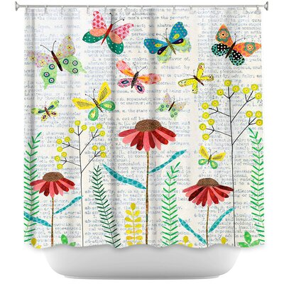 April Butterflies Shower Curtain