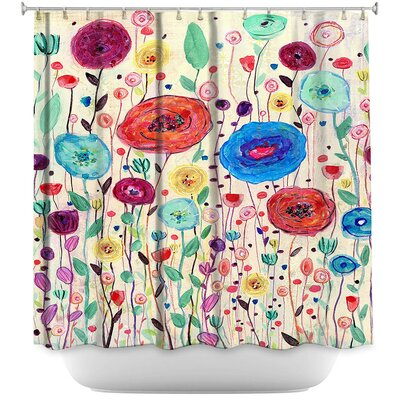 Locklear Blushing Blooms Version 3 Shower Curtain