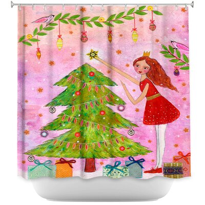 Chesney Christmas Tree Shower Curtain
