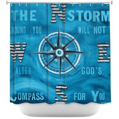 Gods Nautical Compass Shower Curtain