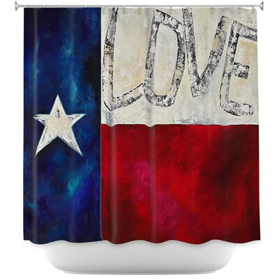 Love For Texas II Shower Curtain