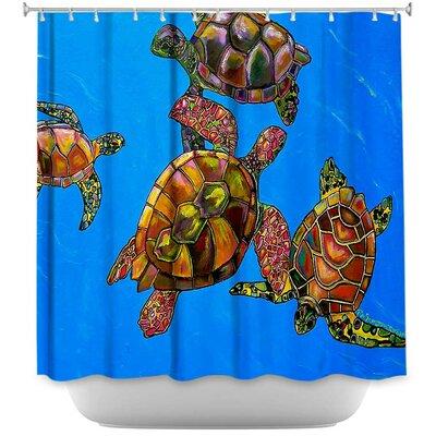 Hollon Turtles Shower Curtain