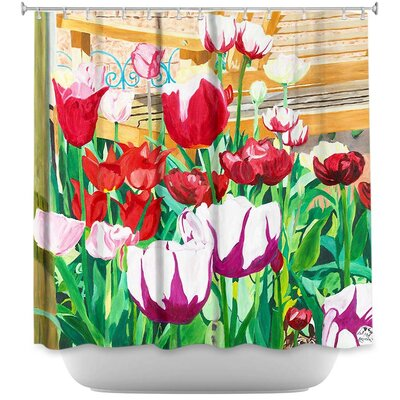 Satin Hearts Shower Curtain