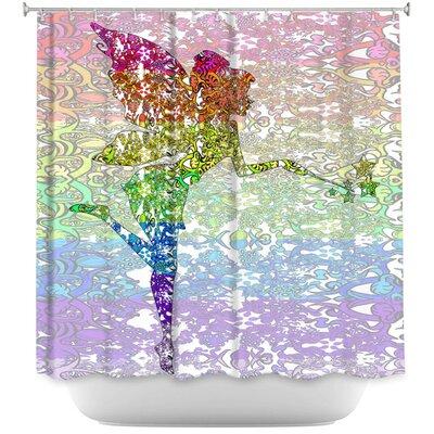 Fairy Dance Rainbow Shower Curtain