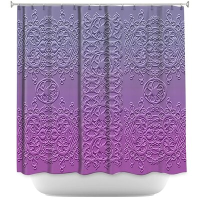 Grandmas Lace Smokey Grape Shower Curtain
