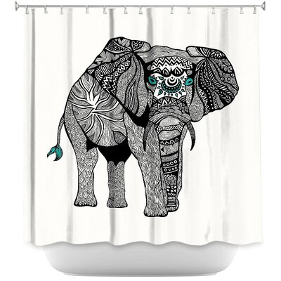 Wiechmann One Tribal Elephant Shower Curtain