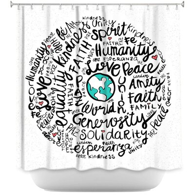 Positive Messages Shower Curtain