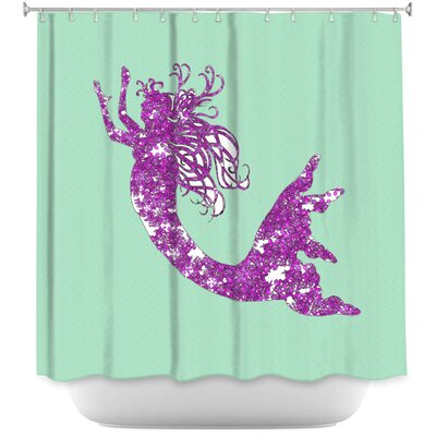 Bellingham Mermaid II Shower Curtain Color: Mint/Purple