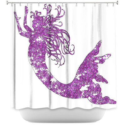 Bellingham Mermaid Shower Curtain Color: Purple/White