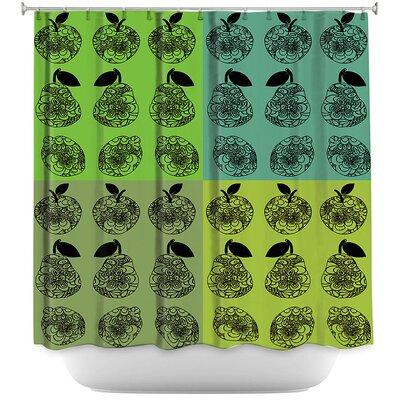 Mod Fruit Squares 3 Shower Curtain