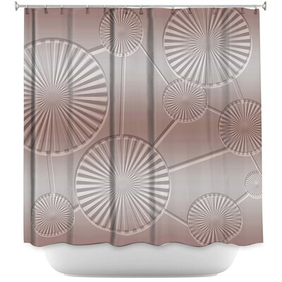 Shower Curtain Color: Lavender/Brown