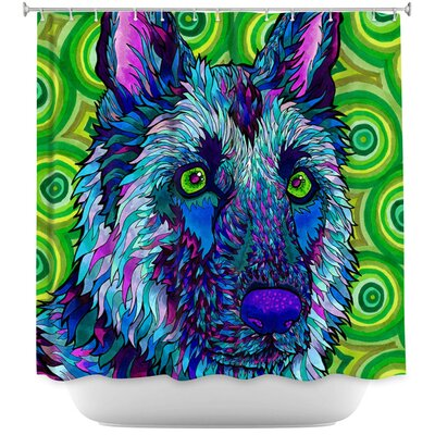 German Shepherd Shower Curtain