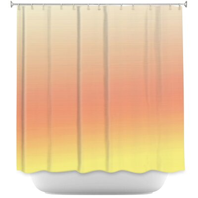 Ombre Airy Shower Curtain Color: Rose/Silver