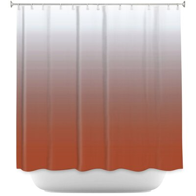 Ombre Airy Shower Curtain Color: Aqua/White