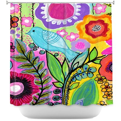 Beauty Bird 3 Shower Curtain
