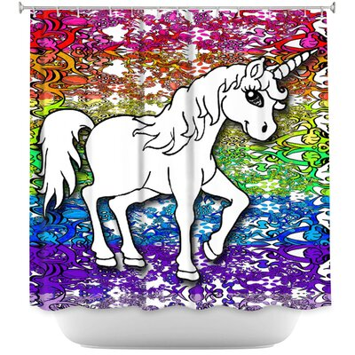 Unicorn Rainbow A Shower Curtain