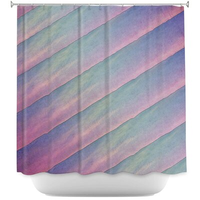 Diagonal Stripes Shower Curtain