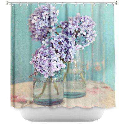Hydrangeas in Mason Jars Shower Curtain