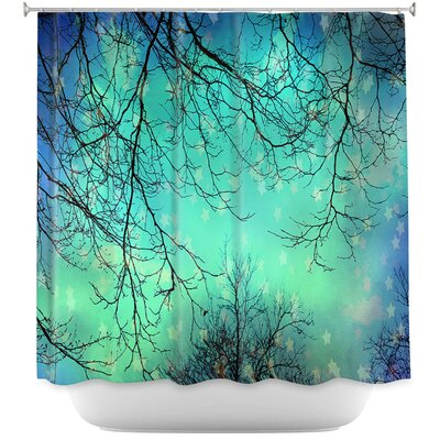 Chesneys Night Time Trees II Shower Curtain