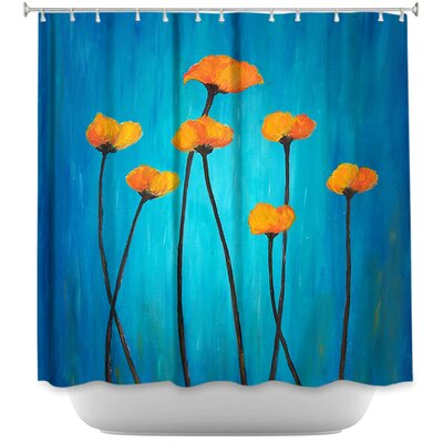 Lococo Eternal Poppies Shower Curtain