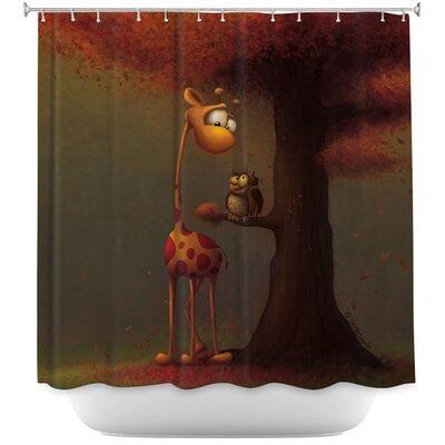 Autumn Giraffe Shower Curtain