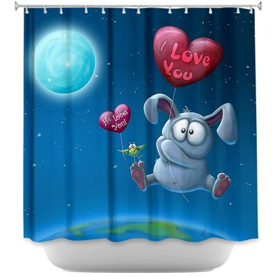 Balloon Bunny Shower Curtain