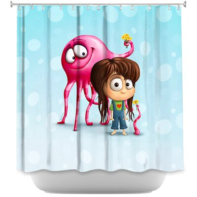 Blobo Likes Jacky Shower Curtain