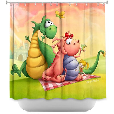 Dragon Picnic Shower Curtain