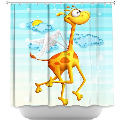 Fly Giraffe Fly Shower Curtain