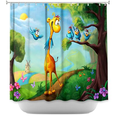 Giraffraf Shower Curtain