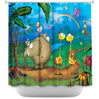 Jungle Party Shower Curtain
