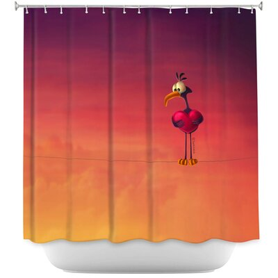 Only One Bird Shower Curtain