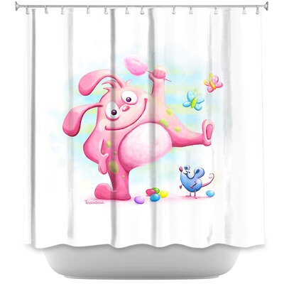Piki Piki Bunny Shower Curtain