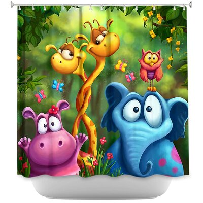 Shangagle Boogie Shower Curtain