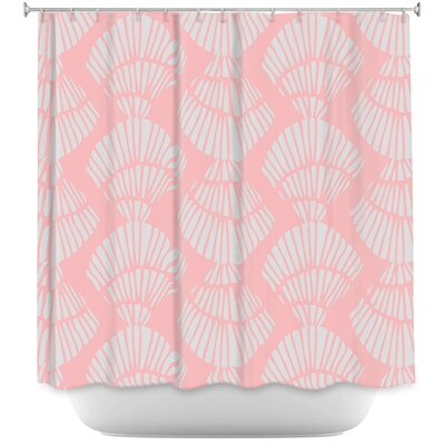 Hulsey Seashell Cotton Candy Shower Curtain