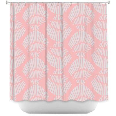 Hulsey Seashell Cotton Candy Shower Curtain