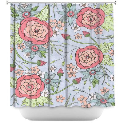 Lozoya Once Upon A Rose Shower Curtain