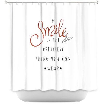 Luker A Smile Sparkle Shower Curtain Color: Pink/Blue
