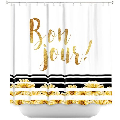 Heise Bonjour Floral Shower Curtain
