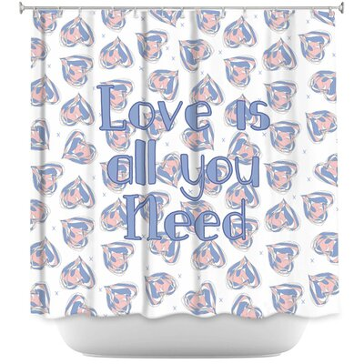 Floating Hearts Love Shower Curtain