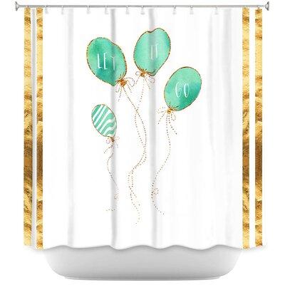 Let It Go Mint Stripe Shower Curtain