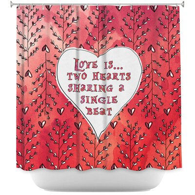 Elio Love Heart Trees On Shower Curtain